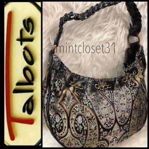 Talbots Leather Trim Bag